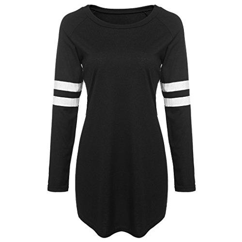 COSYOU New Fashion Women Casual Long Sleeve Base Ball Long T-Shirt Blouse