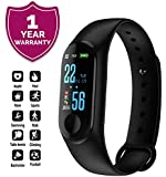 Forestone M3 Smart Fitness Band with Heart Rate Sensor/Pedometer/Sleep Monitoring Functions Compatible with Apple iPhone 5C