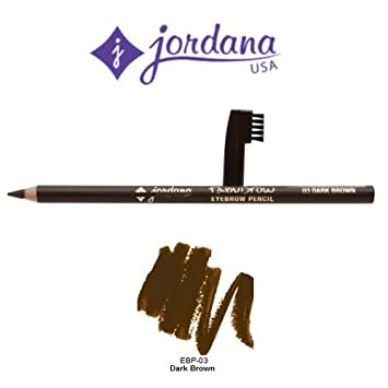 2 Pack Jordana Cosmetics Fabubrow Eyebrow Pencil 03 Dark Brown