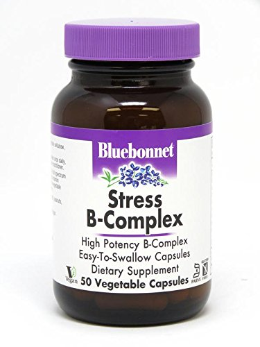 Bluebonnet Stress B-Complex 50 Vegetable Capsules, 50 Count (Formula Vitamin B-complex)