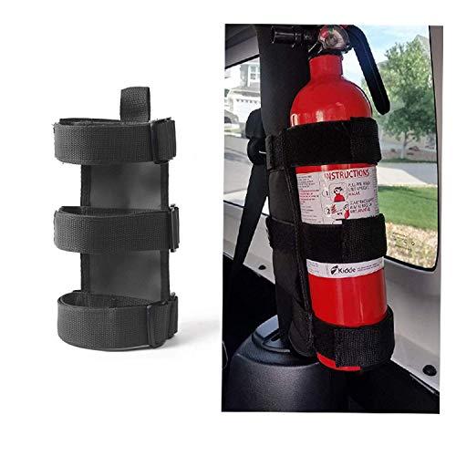 Adjustable Roll Bar Fire Extinguisher Mount Holder 3 lb for Jeep Wrangler Unlimited CJ YJ LJ TJ JK JKU JL JLU ()