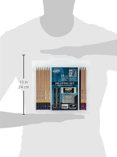 Large Product Image of Pro Art 3078 18-Piece Sketch/Draw Pencil Set