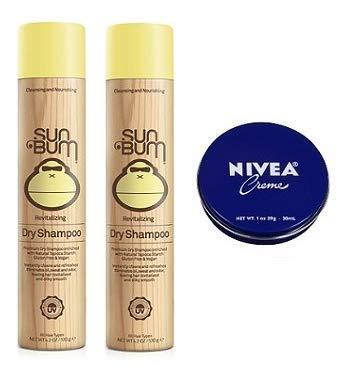 Sun Bum 2 Pack Revitalizing Dry Shampoo 10 Oz. Travel Size Body Cream 1 Oz. by Sun Bu