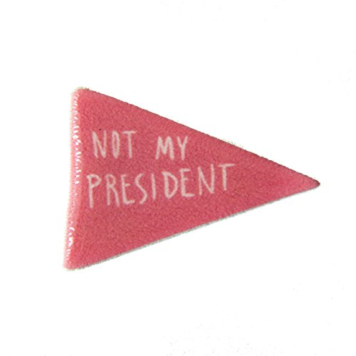 """Not My President"" Pink Flag Enamel Lapel Pin"