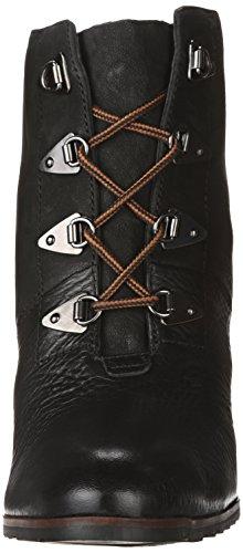 Franco Sarto Womens Derby Wedge Känga Svart Nya Tumlade Läder / Austin Läder