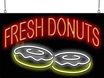 "Donuts Kitchen Shop Coffee and Baked Led Neon Sign Display 15.5/""X 9/"""