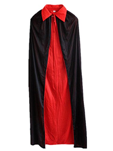 Huafeiwude Black Red Goth Devil Pirate Vampire Demon For Halloween Party Cloak Pirate Set For Adult (Adult Scary Darth Vader Costume)