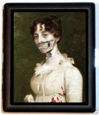 Zombie Edwardian Woman Goth Horror Cigarette Id - Edwardian Goth