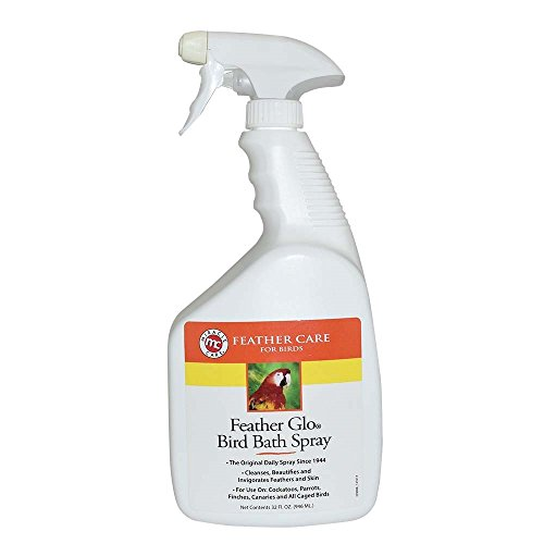 Feather Care - Miracle Care Feather Miracle Care Feather Glo Bird Bath Spray, 32-Ounce