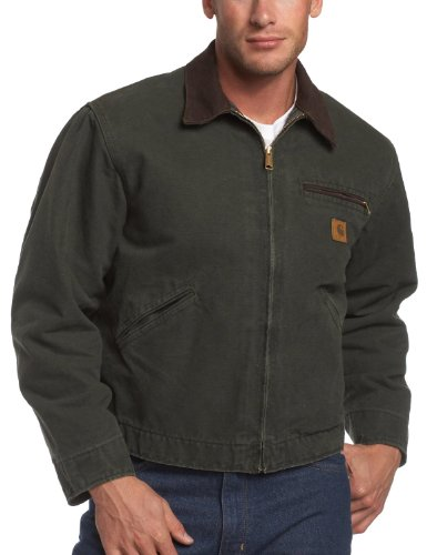 Carhartt Men's Blanket Lined Sandstone Detroit Jacket (Blanket Lined Sandstone Detroit Jacket)