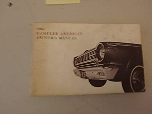 1965 rambler classic owners manual rambler amazon com books rh amazon com 1965 Rambler American 1969 Rambler