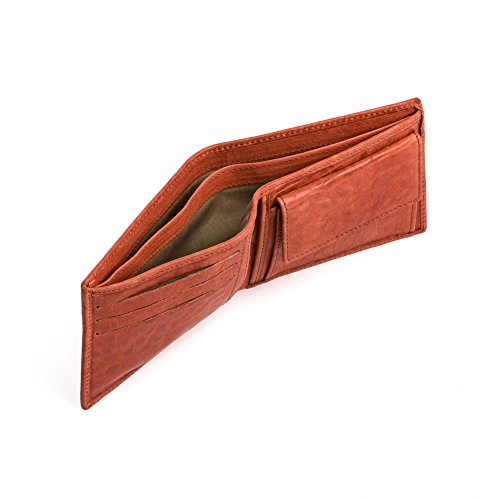 Real money Bill in Classic and holders Leather Wallet Credit with Italian Style ~ Mens Coin card Texas Soft DUDU Pocket with W1YwTxZaq