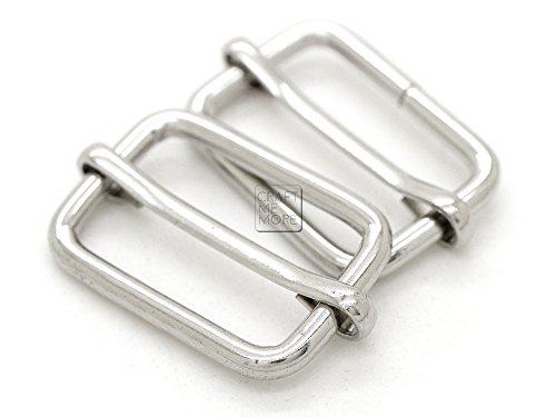 Bar Loop (CRAFTMEmore Movable Bar Slide Strap Adjuster Rectangle Strap Keeper Triglide Belt Keeper Purse Making 5/8