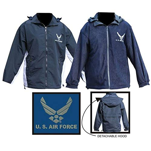 Mitchell Proffitt Men's US Air Force Fleece Jacket Reversible (3XL, ()