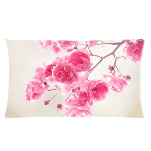 Stylish Design Beautiful Flowers White Red Blue Roses personalized pillowcase hotsale for Children 20x36 Two sides-4