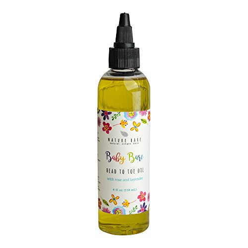 Organic Hypoallergenic Baby Massage Oil: Moisturizing Nourishing | Natural Hemp Pomegranate Avocado Sunflower | Hydrates Relieves Heals Sensitive Skin | Child Kid Boy Girl | 2oz by Nature Bare