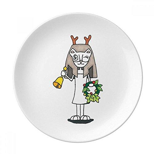 Antlers Bastet Bell Garland Dessert Plate Decorative Porcelain 8 inch Dinner - Dessert Garland Plate