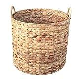 Medium Water Hyacinth Round Storage Basket