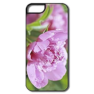 Case For Iphone 5C Cover Case, Peony Flower White/black Case For Iphone 5C Cover BY supermalls