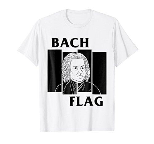 Bach Flag T-Shirt - Punk Rock Composer Parody -