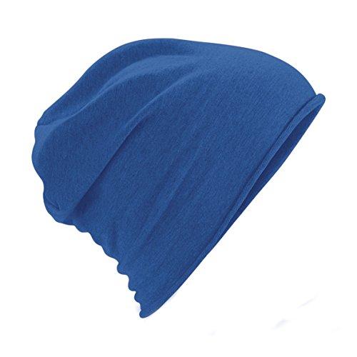 Plain Azul Beanie Mujer Gorro Hombre Modelo Beechfield Jersey Unisex w7Z86AAq