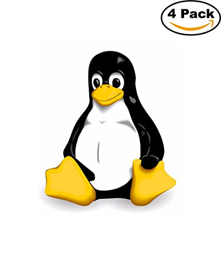 linux-gnu-logo-vinyl-bumper-sticker-decal-penguin-tux-4-stickers