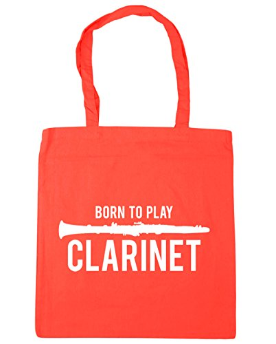 Bag Play Beach HippoWarehouse Clarinet Born to Shopping 10 x38cm Tote Coral Gym 42cm litres qqa8w