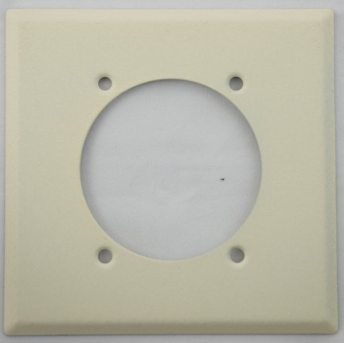 Ivory Wrinkle 2 Gang Wall Plate for a Electric Range/Dryer Receptical- Paintable Cover