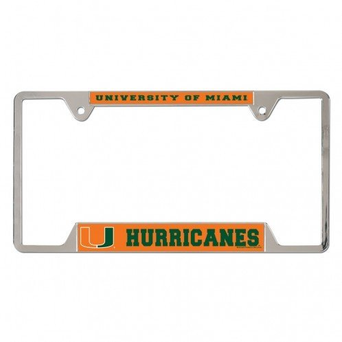 - WinCraft University of Miami Hurricanes Metal License Plate Frame