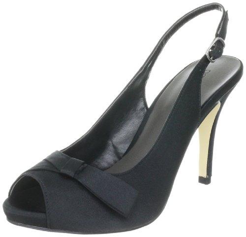 Paco Mena Schinus 4631 - Zapatos con correa de tobillo de satén para mujer Negro (Noir 01)