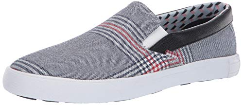 Ben Sherman Men's Percy Slip-On Navy Plaid 45 M EU