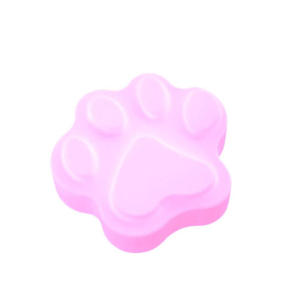 Sytauuan Stampo per zampa di gatto Stampo per torta di cioccolato Stampo per fonderia Pink
