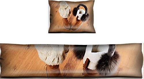 Luxlady Mouse Wrist Rest and Keyboard Pad Set, 2pc Wrist Support IMAGE ID: 34389622 winter boots hat and fur headphones on the floor horizontal format