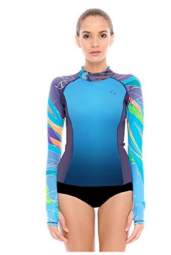 Platinum Sun Women s UPF 30+ Swim Shirt Rash-Guard Short Long Sleeve Swim 835412f90