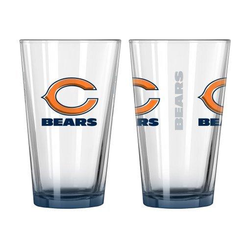 Bear Keg (2015 NFL Football Elite Series Beer Pints - 16 ounce Mixing Glasses, Set of 2 (Bears))