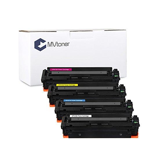 MVtoner Laserjet MFP M477Fdn Toner Cartridge Compatible HP CF410X CF411X CF412X CF413X for Color LaserJet M452nw M452dn M477dw M477dn MFP M477fdn 4 Pack Black Cyan Yellow Magenta by MVtoner