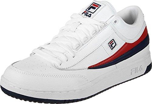 Fila Uomo T-1 Mid Fashion Sneaker Bianco, Fila Navy, Fila Rosso