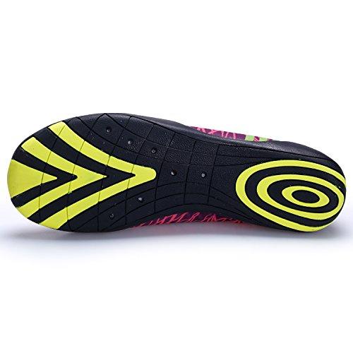 Kitleler Wasser Schuhe Für Männer Frauen Haus Hausschuhe Barfuß Quick-Dry Aqua Mit Drainage Loch Für Yoga Schwimmen rot