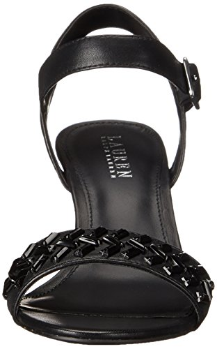 Lauren Ralph Lauren de la mujer Hessa sandalias de cuña Black