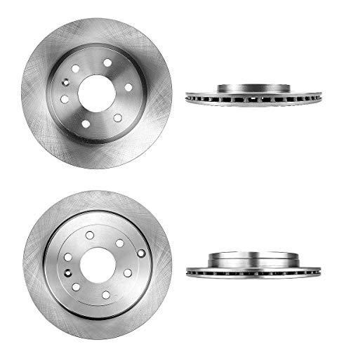 FRONT 325 mm + REAR 331 mm Premium OE 6 Lug [4] Brake Disc Rotors