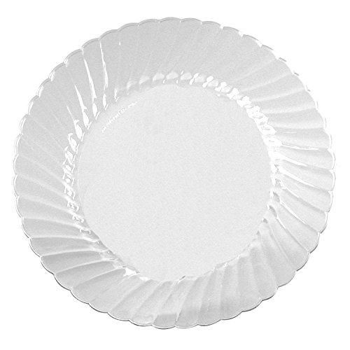 WNA RSCW101212 Classicware Plates, Plastic, 10.25 in, Clear, 12/Bag, (Case of 12 bags)