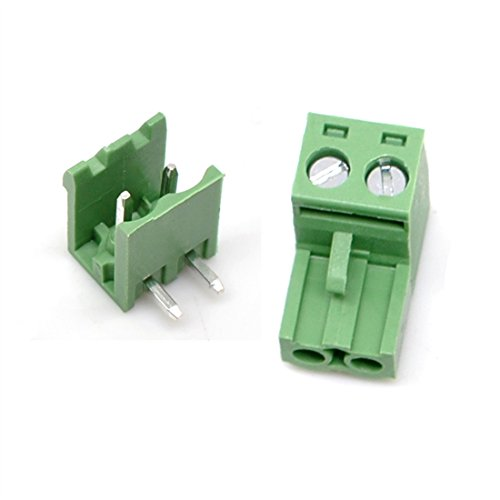 Willwin 5.08 mm Pitch Right Angle 20Set 2pin PCB Pluggable Terminal Block Connectors (Terminal Connecter)