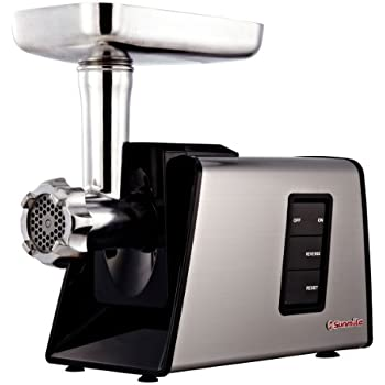 Sunmile SM-G73 ETL Electric Meat Grinder and Sausage Stuffer 1000W Max, Stainless Steel Cutting Blade, 3 Stainless Steel Cutting Plates 3 Sausage Stuff Makers