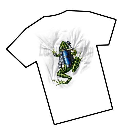 Amphibious Outfitters Scuba Frog Tee Shirt-White-L