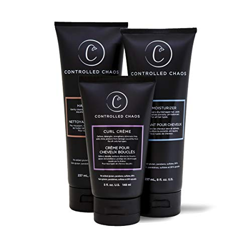Cha Tank - Controlled Chaos Bundle Package: Deep Cleansing Shampoo, Hydrating Conditioner and Curl Smoothing Creme - As Seen on Shark Tank