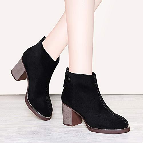 Liuxc High Heels Heels Heels Hochhackige Martin Stiefel , Herbst- und Winterschuhe, vielseitige Damenstiefel, PU matt mit hohen Absätzen bcb739