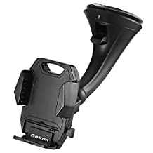 Car Mount Holder, Getron Windshield Dashboard Universal Car Mobile Phone Cradle for iPhone 7 Plus 7 6S Plus 6S SE 5S 5C Samsung Galaxy S7 Edge S7 S6 Note 5 4 LG G5 G4 and Most Smartphones
