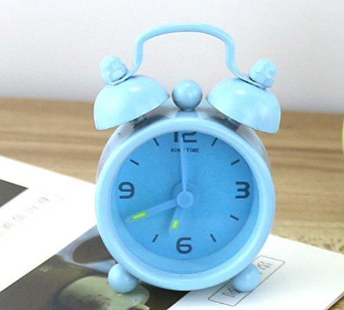 WarmFemme Creative  ly Décoration de Cadeau Creative Mini  ly  s  s étudiants Réveil Silencieux (Bleu) | Beau