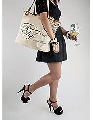 Santa Barbara Design Studio JKC Rope Handled Canvas Tote Bag, Fashion Can Be Bought