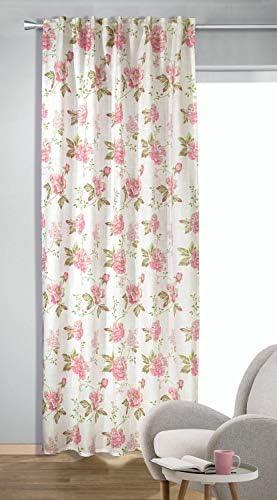 Albani – Tenda con Passanti nascosti Fleur, 245 x 135 cm, Colore: Rosa
